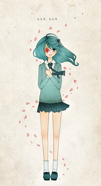 Tags: Anime, Hakoinu, VOCALOID, Hatsune Miku, Eye Flower, Fanart From DeviantART, Hirari Hirari, Fanart, Mobile Wallpaper, deviantART