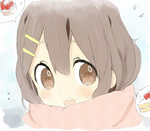 Tags: Anime, Nasuna, K-ON!, Hirasawa Yui, Bright Colors, Thinking, Fanart From Pixiv, Fanart, Pixiv, Yui Hirasawa