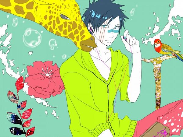 Tags: Anime, Satoru Hisa, VOCALOID, BLEACH, Hisagi Shuuhei, Giraffe, Fanart From Pixiv, Melancholic, Pixiv, Fanart