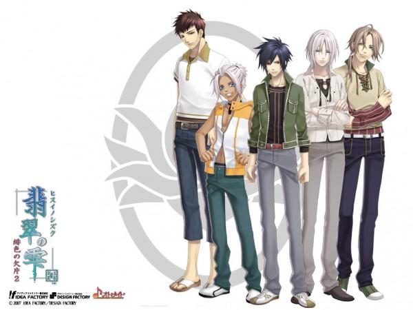 Tags: Anime, Kazuki Yone, IDEA FACTORY, Hisui no Shizuku - Hiiro no Kakera 2, Hiiro no Kakera, Mibu Katsuhiko, Shigemori Akira, Takachiho Riku, Amano Ryouji, Mibu Kotaro, Wallpaper