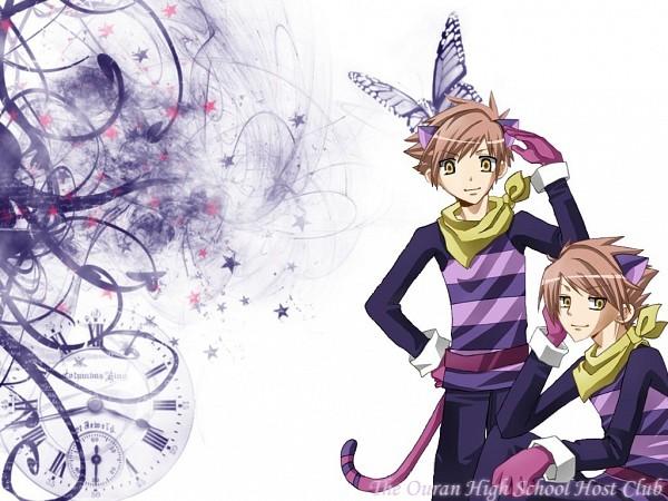 Tags: Anime, Ouran High School Host Club, Alice in Wonderland, Cheshire Cat, Hitachiin Hikaru, Hitachiin Kaoru, Cheshire Cat (Cosplay), Wallpaper, Hitachiin Twins