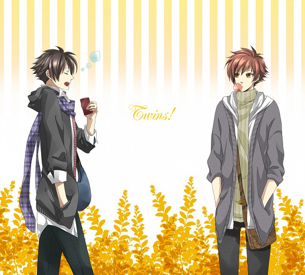 Tags: Anime, Pixiv Id 1434294, Ouran High School Host Club, Hitachiin Hikaru, Hitachiin Kaoru, Fanart, Pixiv, Hitachiin Twins