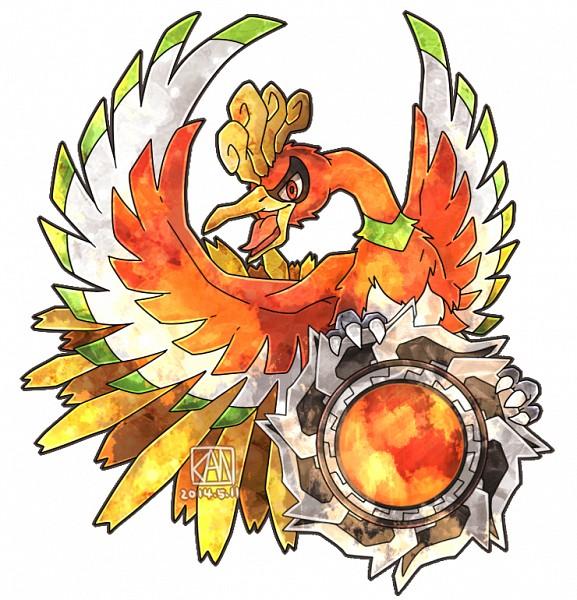 Tags: Anime, Pixiv Id 2433209, Pokémon, Ho-oh, Fanart From Pixiv, Fanart, Legendary Pokémon, Pixiv