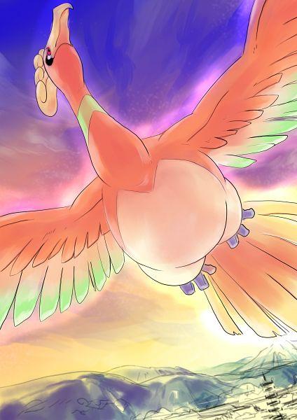 Tags: Anime, Pixiv Id 1951562, Pokémon, Ho-oh, Pixiv, Fanart, Legendary Pokémon