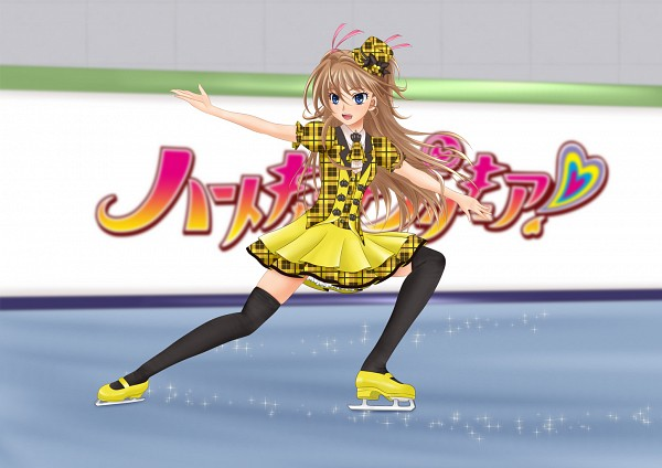 Tags: Anime, Hyong, Suite Precure♪, Pretty Rhythm: Aurora Dream, Hojo Hibiki, Amamiya Rizumu (Cosplay), Ice Skating, Fanart, Pixiv