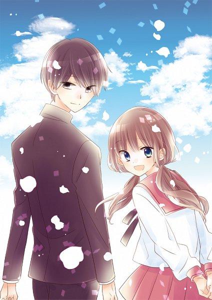 Tags: Anime, Amano Shinobu, Hokenshitsu no Kageyama-kun, Kageyama Kurou, Hiyori Kanade, Official Art