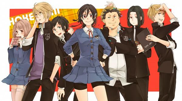 Tags: Anime, Komasawa (Fmn-ppp), Hokenshitsu no Shinigami, Ashitaba Iku, Mamasaka Rentarou, Fuji Rokusuke, Wallpaper