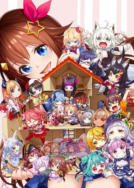 Tags: Anime, Pixiv Id 202462, Usada Pekora, Nakiri Ayame, Amane Kanata, AZKi, Roboco, Akai Haato, Houshou Marine, Sakura Miko, Shirakami Fubuki, Murasaki Shion, Tsunomaki Watame
