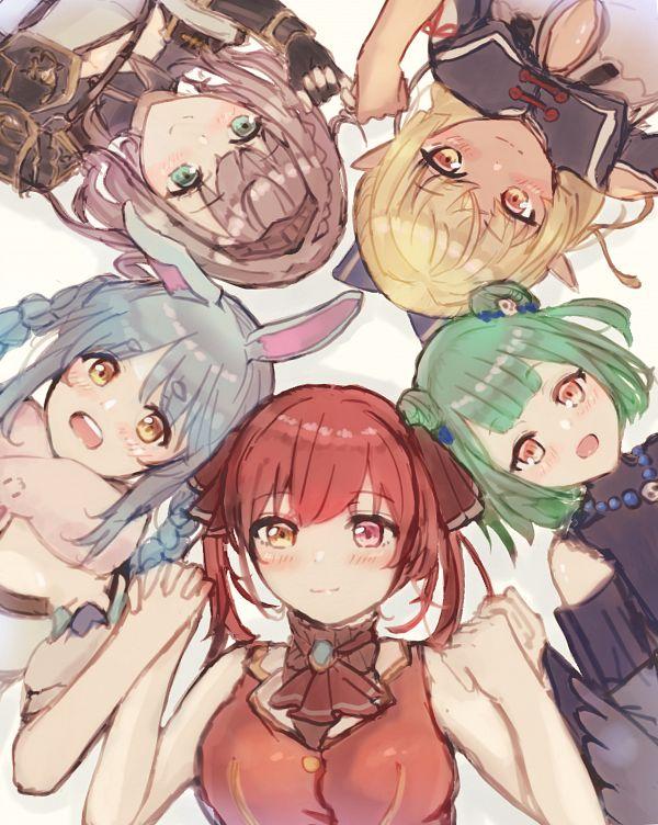 Tags: Anime, Ayama Nano, Usada Pekora, Houshou Marine, Shirogane Noel, Uruha Rushia, Shiranui Flare, Rushia Ch., Marine Ch., Hololive, Noel Ch., Pekora Ch., Flare Ch.