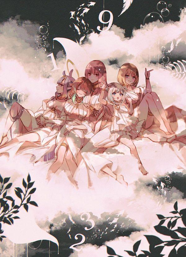 Tags: Anime, Chino Machico, Gawr Gura, Takanashi Kiara, Mori Calliope, Ninomae Ina'nis, Watson Amelia, Ninomae Ina'nis Ch., Watson Amelia Ch., Hololive, Gawr Gura Ch., Takanashi Kiara Ch., Mori Calliope Ch.