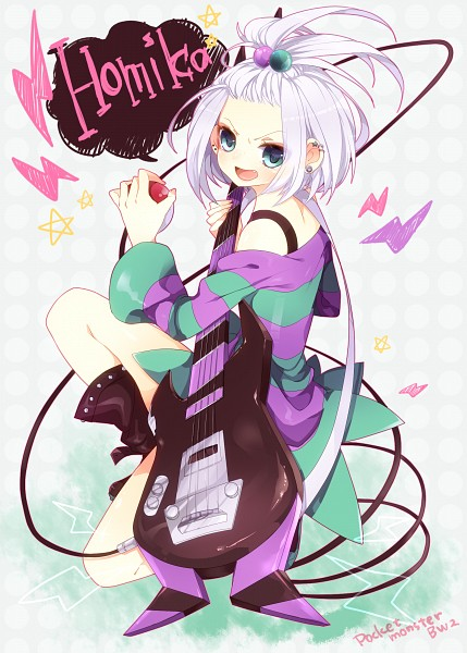 Tags: Anime, Pixiv Id 4381228, Pokémon, Homika, Bass Guitar, Mobile Wallpaper, Pixiv, Fanart, Fanart From Pixiv, Roxie