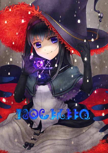 Tags: Anime, Pixiv Id 4725740, Mahou Shoujo Madoka☆Magica, Homulilly, Akemi Homura, Black Flower, Pixiv, Fanart From Pixiv, Fanart, Mobile Wallpaper