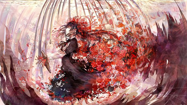 Tags: Anime, Bai Qi QSR, Mahou Shoujo Madoka☆Magica, Homulilly, Akemi Homura, Pixiv