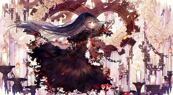 Tags: Anime, Bai Qi QSR, Mahou Shoujo Madoka☆Magica, Akemi Homura, Homulilly, Fanart, Fanart From Pixiv, Pixiv