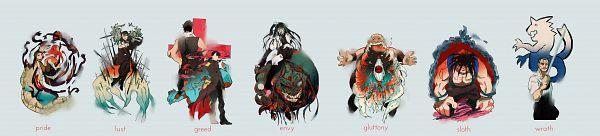 Tags: Anime, Pixiv Id 199787, Fullmetal Alchemist, Fullmetal Alchemist Brotherhood, Greed/Greeling, Lust (FMA), King Bradley, Gluttony (FMA), Sloth (FMA), Envy (FMA), Pride (FMA), Greed (FMA), Ling Yao