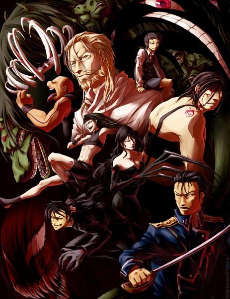 Tags: Anime, Hasuyawn, Fullmetal Alchemist, Fullmetal Alchemist Brotherhood, Greed (FMA), Lust (FMA), Selim Bradley, Wrath (FMA), Father (FMA), Gluttony (FMA), King Bradley, Envy (FMA), Pride (FMA)