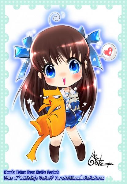 Tags: Anime, Fruits Basket, Sohma Yuki, Honda Tohru, Sohma Kyo (cat), Sohma Yuki (rat), Sohma Kyo, Fanart