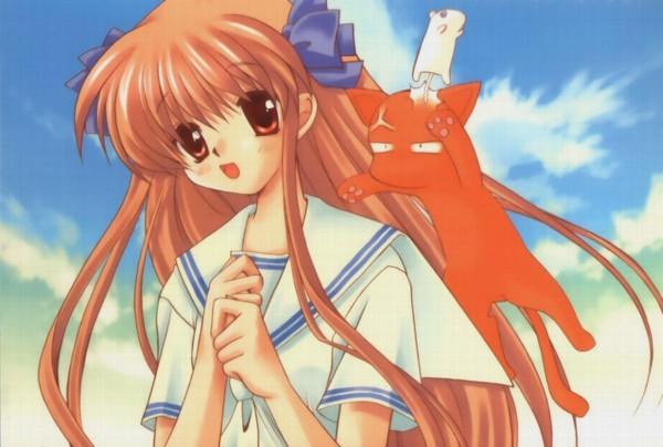 Tags: Anime, Fruits Basket, Sohma Kyo, Sohma Yuki, Honda Tohru, Sohma Kyo (cat), Sohma Yuki (rat)
