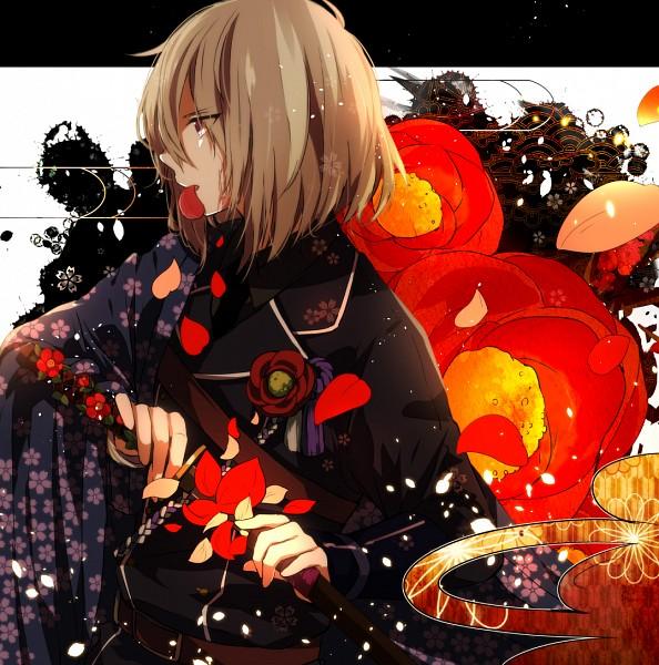 Tags: Anime, MikanWool, Touken Ranbu, Honebami Toushirou, Wakizashi, Pixiv
