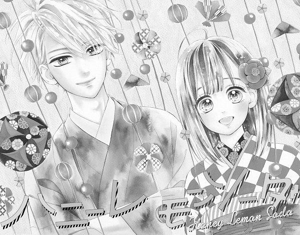 Tags: Anime, Murata Mayu, Honey Lemon Soda, Ishimori Uka, Miura Kai, Official Art, Manga Page, Chapter Cover