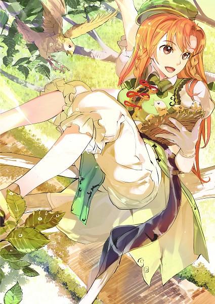 Tags: Anime, 1ten, Touhou, Hong Meiling, Nest, Green Vest, Fanart, Mobile Wallpaper, Pixiv, Fanart From Pixiv, PNG Conversion
