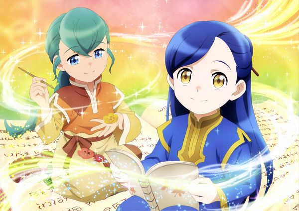 Tags: Anime, Ajiado, Honzuki no Gekokujou, Turi (Honzuki No Gekokujou), Myne (Honzuki no Gekokujou), Official Art, Scan, Ascendance Of A Bookworm: Stop At Nothing To Be A Librarian