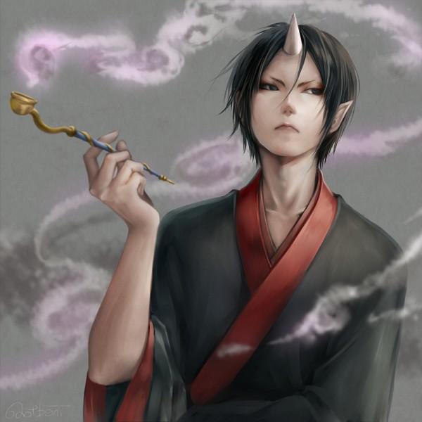 Tags: Anime, Lma, Hoozuki no Reitetsu, Hoozuki (Hoozuki no Reitetsu), Fanart From Pixiv, PNG Conversion, Pixiv, Fanart