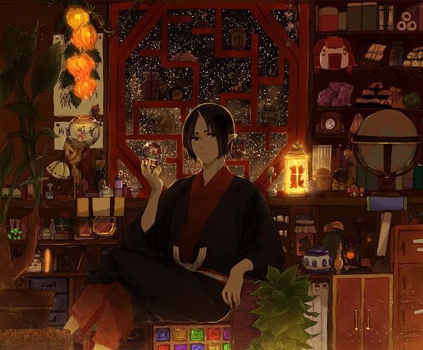 Tags: Anime, Pixiv Id 2309645, Hoozuki no Reitetsu, Kingyosou (Hoozuki no Reitetsu), Hoozuki (Hoozuki no Reitetsu), Chinese Lantern (flower), PNG Conversion, Pixiv, Fanart, Fanart From Pixiv