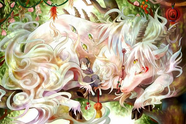 Tags: Anime, Nekozuki Yuki, Hoozuki no Reitetsu, Hoozuki (Hoozuki no Reitetsu), Hakutaku (Creature Form), Hakutaku (Hoozuki no Reitetsu), Hakutaku, Pixiv, Cool-headed Hoozuki