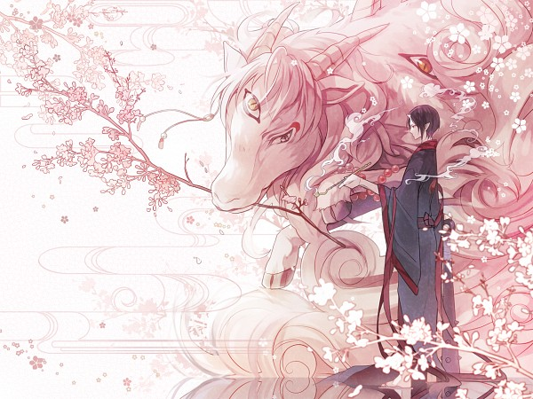 Tags: Anime, Araragi (Pixiv Id 80668), Hoozuki no Reitetsu, Hakutaku (Creature Form), Hakutaku, Pixiv, Fanart, Fanart From Pixiv, Cool-headed Hoozuki