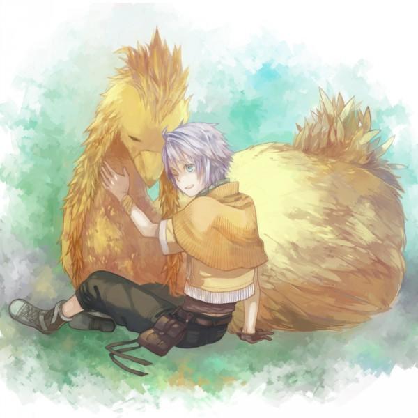 Tags: Anime, Shinono, Final Fantasy XIII, Hope Estheim, Chocobo, Pixiv, Fanart From Pixiv, Fanart