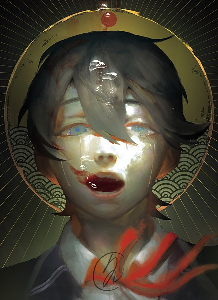 Tags: Anime, bwusagi, Touken Ranbu, Horikawa Kunihiro, Fanart, Mobile Wallpaper