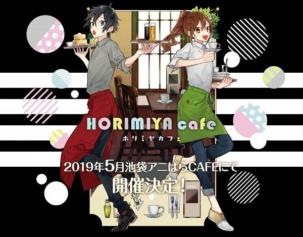 Tags: Anime, Hagiwara Daisuke, Horimiya, Miyamura Izumi, Hori Kyoko, Menu, Official Art