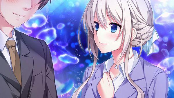 Tags: Anime, Koizumi Amane (Mangaka), tone work's, Hoshi Ori Yume Mirai, Okihara Misa, Hino Ryousuke, CG Art, Wallpaper