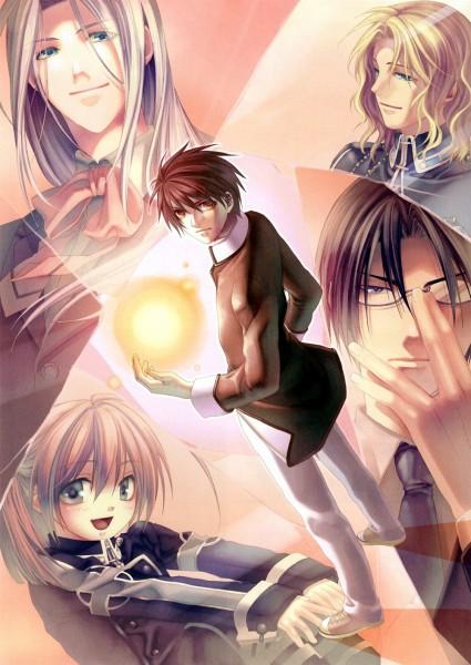 Tags: Anime, Kazuki Yone, Hoshi no Furu Koku, Kanamori Kyou, Arima Toshi, Matsuura Takashi, Asakura Yusuke, Official Art, Time Falling Star