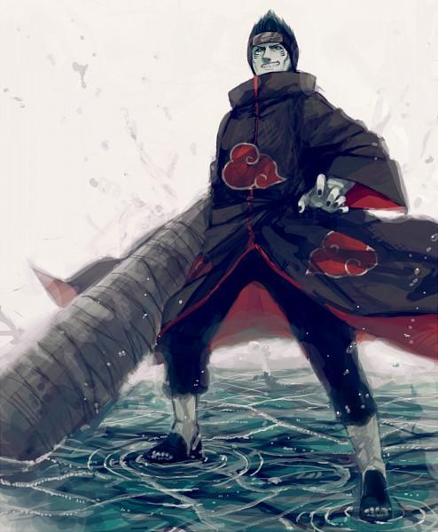 Tags: Anime, Minase Mmakina, NARUTO, Hoshigaki Kisame, Samehada, Walking On Water, Pixiv, Fanart