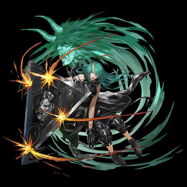 Tags: Anime, Zhouran, HyperGryph, Arknights, Hoshiguma, Official Art
