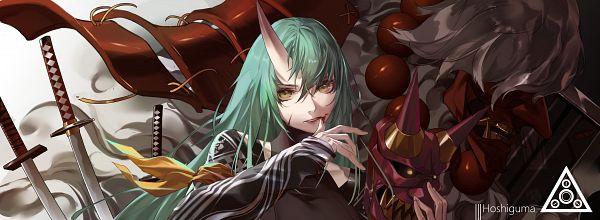 Tags: Anime, Pixiv Id 10646874, Arknights, Hoshiguma, Patrolling Ronin
