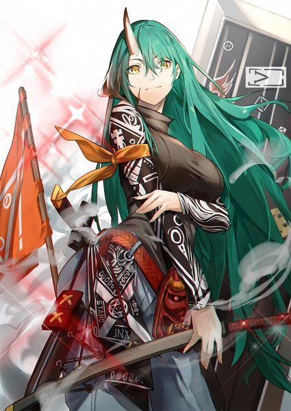 Tags: Anime, Pixiv Id 29874741, Arknights, Hoshiguma, Pixiv, Fanart, Fanart From Pixiv, Patrolling Ronin
