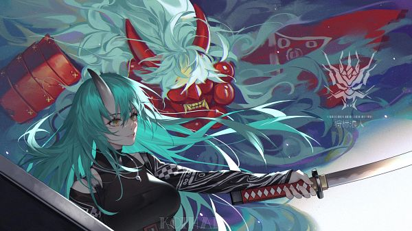 Tags: Anime, Koi Han, Arknights, Hoshiguma, Patrolling Ronin