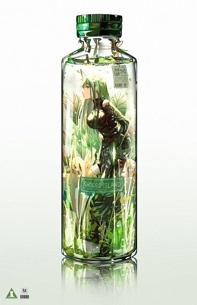 Tags: Anime, Pixiv Id 25295189, Arknights, Hoshiguma, In a Bottle, Fanart, Fanart From Pixiv, Pixiv