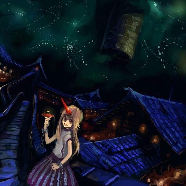 Tags: Anime, Hei (Qijuzi), Touhou, Subterranean Animism, Hoshiguma Yuugi, Fanart, Fanart From Pixiv, Pixiv, Yuugi Hoshiguma