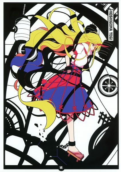 Tags: Anime, Ideolo, NEKO WORKi, BLACK★ALBUM, Touhou, Hoshiguma Yuugi, Comic Market 79, Mobile Wallpaper, Scan, Yuugi Hoshiguma
