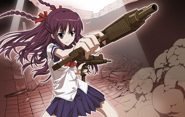 Tags: Anime, Shikabane Hime, Hoshimura Makina, Machine Gun