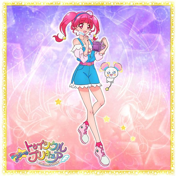 Tags: Anime, Star☆Twinkle Precure, Hoshina Hikaru, Fuwa (Precure), Official Art