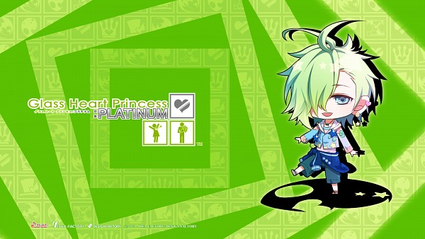 Tags: Anime, Kinami Yuki, IDEA FACTORY, Glass Heart Princess, Hoshino Kanata, Jacket Around Waist, Official Wallpaper, Wallpaper, HD Wallpaper, Official Art