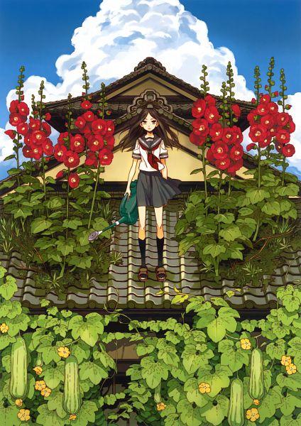 Tags: Anime, Hoshino Lily, Eshi 100-Nin Ten 02, Cucumber, Original, Mobile Wallpaper, Scan