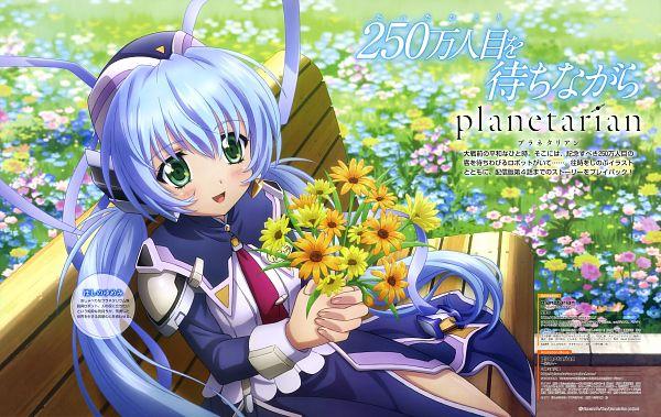 Tags: Anime, david production, Planetarian: Chiisana Hoshi no Yume, Hoshino Yumemi, Magazine (Source), Scan, Official Art