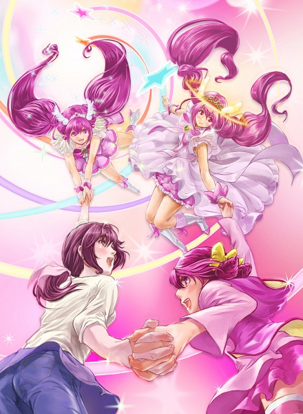 Tags: Anime, Cure Gorugomu, Smile Precure!, Hoshizora Miyuki, Cure Happy, Hoshizora Ikuyo, Pixiv, Fanart, Fanart From Pixiv, Hoshizora Family
