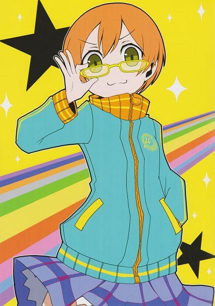 Tags: Anime, Love Live!, Spectacle Lovers, Hoshizora Rin, Satonaka Chie (Cosplay), Comic Market 87, Artist Request, Scan, Comic Market, Mobile Wallpaper, Rin Hoshizora